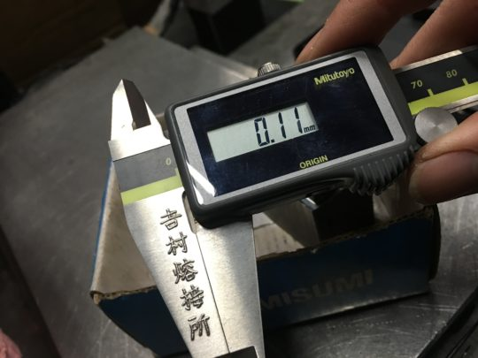 0.1mm仕上がり,レーザー溶接,金型補修肉盛溶接,デジタルノギス