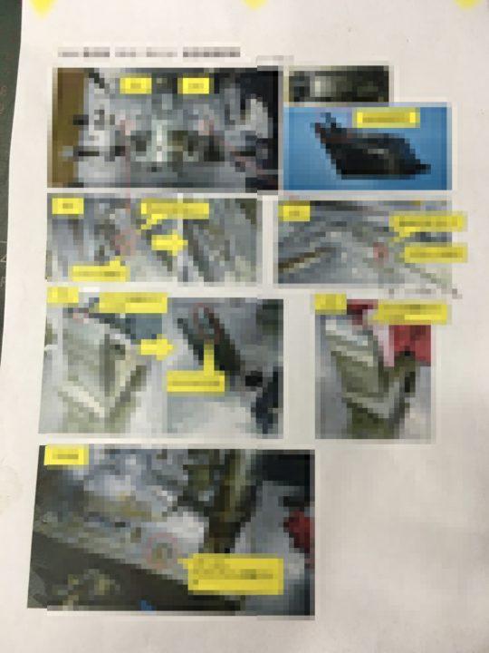 金型破損詳細,金型補修,レーザー溶接