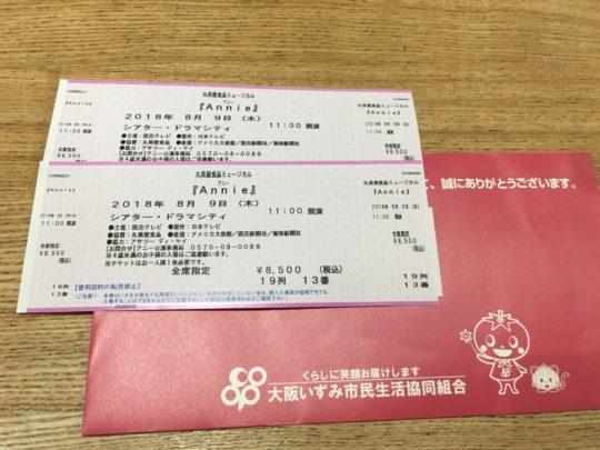 アニーのチケット