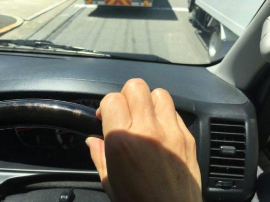 車の運転中 東大阪市