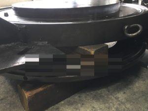 Φ750mmゴム型のレーザー溶接