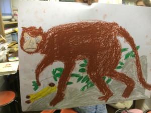 息子の描いた猿
