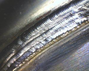プラスチック金型の補修溶接
