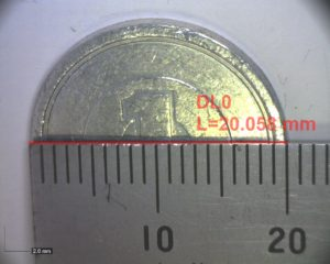 一円玉の寸法