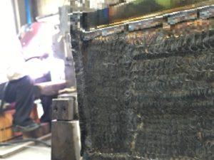 TIG溶接にて約3mm肉盛溶接(270mm×180mm)