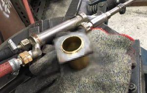 真鍮と鉄の溶接,銀ロー付け